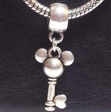 MICKEY KEY 3D_Bead for European Charm Bracelet_Mouse Cartoon Child Disney Silver