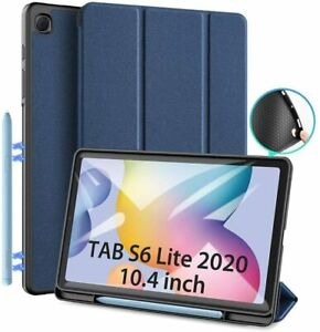 Cover compatibile per Samsung Galaxy Tab S6 Lite 10.4 2020, Custodia Slim, Blu