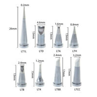 10pcs Soldering Iron Tips Oxygen Free Copper Silver For Weller WSD81 WD1000 LTO