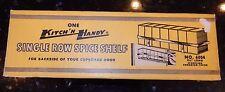 Vintage 50's NOS CHROME Kitchen SPICE RACK Can Shelf Holder Hanger KITCH'N HANDY