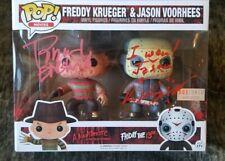Funko PoP! Freddy Krueger & Jason Voorhees Signed Robert Englund Ken Kirzinger