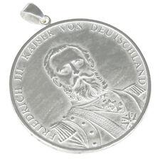 Kaiser Friedrich Anhänger Silber Silberschmuck Silbermünze Silbermedaille b72