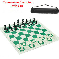 Tournament Chess portable travelling Brand New Pieces and Roll Board w/Case