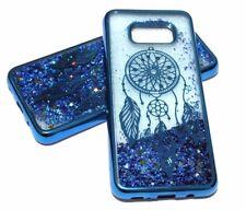 For Samsung Galaxy S8+ PLUS - Blue Dream Catcher Glitter Stars Liquid Water Case