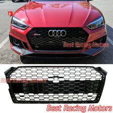 Rs5 Style Front Grille (Gloss Black Frame + Honeycomb) Fits 18-20 Audi A5 S5 B9 (Fits: Audi)