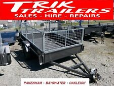 8x5 Heavy Duty  box trailer plus 2 ft cage - removable