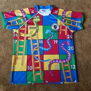 Stag Power Rugby Novelty Snakes and Ladders Shirt Romford & Gidea Park Stag do