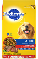 PEDIGREE Adult Dry Dog Food - Grilled Steak & Vegetable Flavor 50 lb. Bag