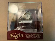 Elgin Collectible Mini Clock - Piano - New In Display Case