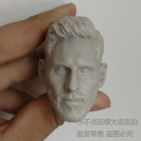 Free Shipping 1:6 scale blank Head Sculpt Lionel Messi Football Star unpainted