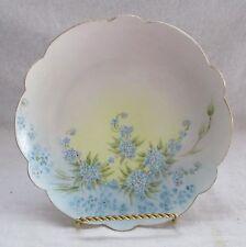 Vintage Limoges France Gold Trimmed Plate Blue Flowers Marked