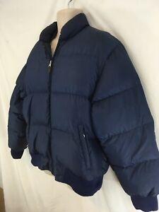 Polo Jeans Ralph Lauren Womens XL Navy Blu Goose Down Puffer Zip Frt Jacket Coat