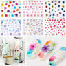50 Sheets 3D Nail Art Transfer Stickers Flower Decals Manicure Decoration Hot