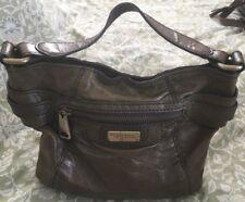 FOSSIL FIFTY FOUR Olive Leather Large Hobo Handbag Purse Bag-VERY NICE