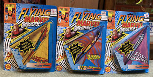 3 NEW! 1991 MARVEL SPIDER-MAN, X-men, Silver Surfer FLYING Superheroes They Fly!