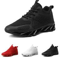 Men's Outdoor Running Leisure Sneakers Shoes Mesh Breathable Lace up Sport Vogue