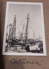CATANIA  SICILY 1936   PHOTOGRAPH PRE WW2 SOCIAL HISTORY   N