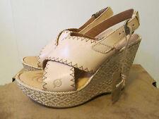 Born Adalina Natural Cashmere Beige Leather Platform High Heel Sandal Size 9 NEW