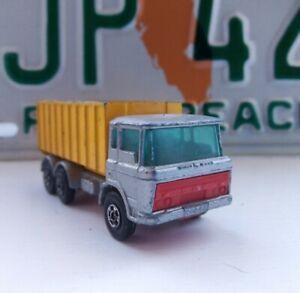 Vintage Lesney Matchbox Superfast No. 47 DAF Tipper Container - Lightly Playworn