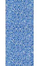 "21'x48"" Round Unibead Blue Cube Tile Above Ground Swimming Pool Liner-25 Gauge"
