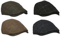 New Tweed Herringbone Gatsby Cap Hat Mens Ladies Flat Hat Baker Boy Newsboy
