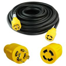 Leisure 30 Amp STW 50'  4 Prong Generator/Industrial Locking Extension Cord
