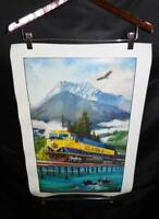 Alaska Railroad Poster 2012 Seward Solidarity Train Sea Otter Bald Eagle Bridge