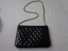 Vintage Black with Gold Chain Retro Unbranded Purse