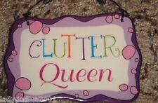 Clutter Queen - ceramic sign-Ganz-FREE Shipping