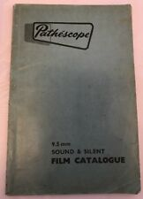 RARE Vintage PATHESCOPE Film catalogo 1956-57 Prima Edizione, 9.5 mm Sound silenzioso