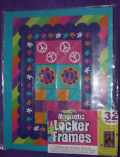 2 Peace Flowers Magnetic Locker Fridge Frames plus 30 Bonus Magnets (145)