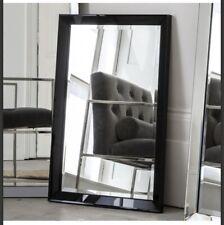 RECTANGLE WALL MIRROR Luna Rectangle Black Frame W915 x H610mm Modern Mirror