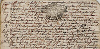 1729 Calvados noblesse De MANTAILLYS DE LA BIGNE LE FORESTIER commandeur AMELOT