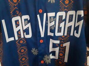 New York Mets Minors LAS VEGAS 51s Hawaiian Style SGA XL Jersey Baseball