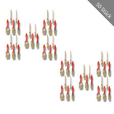 HSM Pinselset 50-tlg. Malerpinsel Flachpinsel Pinsel Rundpinsel Lackieren