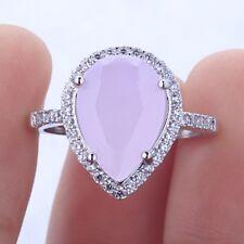 Women 925 Silver Gift Mystic Rainbow Topaz Wedding Engagement Ring Size 6-10