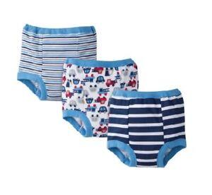 Gerber Toddler Baby Boys 3-Pack Blue Firetruck Training Pants Size 3T (32/35lbs)