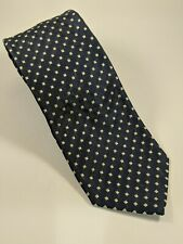 "Pal Zileri Navy & Grey Woven Silk Tie XL 62"" .Made in Italy Beautiful"
