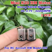 2PCS Mini N20 DC 3V 3.7V 32200RPM High Speed 10mm Motor RC Drone HM Aircraft DIY