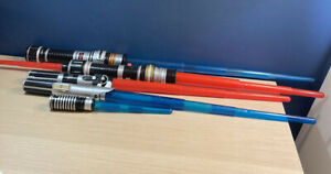 5 2009 Lightsabers Lot Some tested and working Dagger Blue & Red