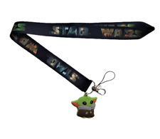 Yoda Lanyard Stainless Steel Key Ring Handmade Cell Phone Lanyard