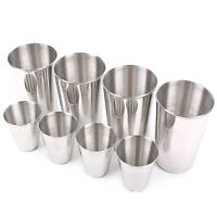 Stainless Steel CAMPING CUPS Set 8P Tea Coffee Travel Outdoor Cup Portable Bag