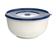 Emsa SUPERLINE Hefeteigschüssel mit Deckel Teigschüssel Salatschüsssel Weiß/Blau