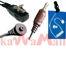 Earphone 2-Wire w/Transparent Tube for Yaesu VX-7R