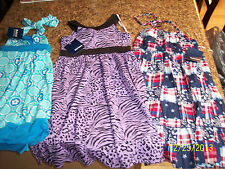 NWT Girls Size 6 Spring Or Summer Dresses -8 In Lot-