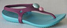 Girl's Crocs 'Aliana' Sandals  Color: Lilac/Aqua  Size:C10