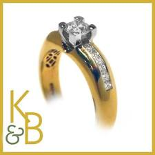 Ladies 18ct Gold 0.93ct 13 Stone Diamond Solitaire Ring SIZE O (11487) Sale!!!