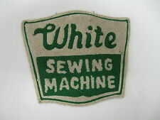 """"""" WHITE SEWING MACHINE """" EMBROIDERED  SEW ON  PATCH LARGE"""