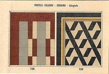 Stampa antica PAVIMENTO A MOSAICO Piastrelle Mattonelle C 728 1910 Antique print