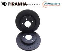 Citroen Xsara Coupe 1.6 VTR 00-04 Rear Brake Discs Coated Black Dimpled Grooved